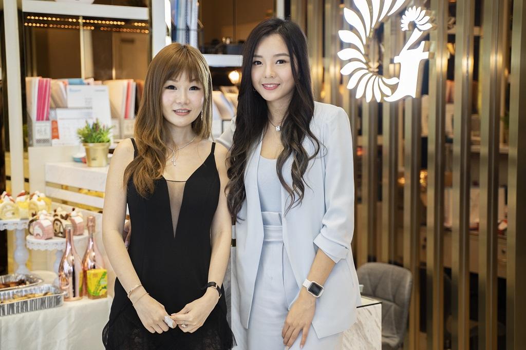 G2新店開業期間,2017年中華小姐兼G2品牌代言人余思霆現場熱情助陣
